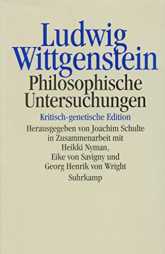 9783518583128: Philosophische Untersuchungen. Kritisch-genetische Edition (German Edition)