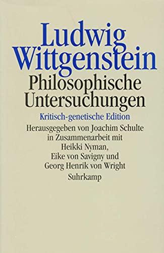 9783518583128: Philosophische Untersuchungen: Kritsch-genetische Edition