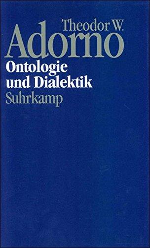 9783518583272: Ontologie und Dialektik: Bd. 4/7.