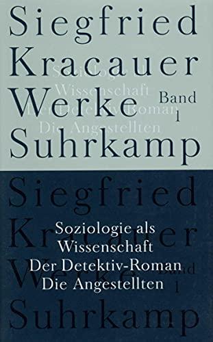 9783518583319: Soziologie als Wissenschaft / Der Detektiv-Roman / Die Angestellten