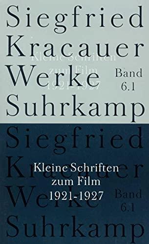 9783518583463: Kleine Schriften zum Film. 1921 - 1927