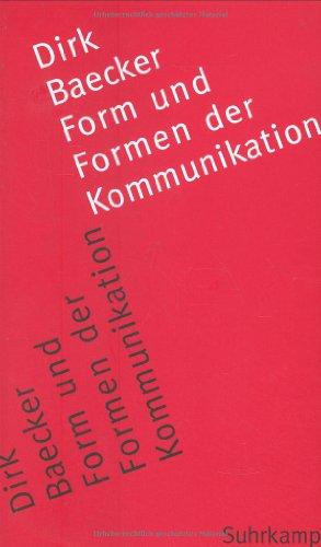 9783518584392: Form und Formen der Kommunikation