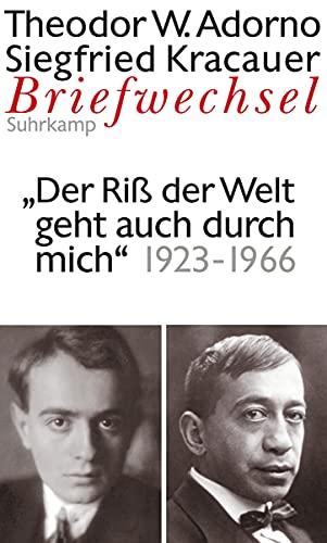 Briefwechsel 7. Theodor W. Adorno/Siegfried Kracauer. Briefwechsel: Adorno, Theodor W.;