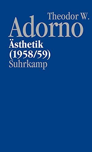 9783518585351: Nachgelassene Schriften. Abteilung IV: Vorlesungen: Band 3: Asthetik (1958/59): Bd. IV/3