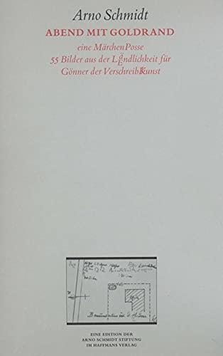 Werke, Bargfelder Ausgabe, Werkgr.4, Studienausgabe Abend mit Goldrand: Arno Schmidt