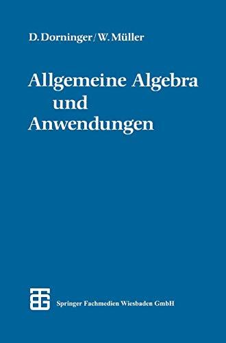 9783519020301: Allgemeine Algebra und Anwendungen
