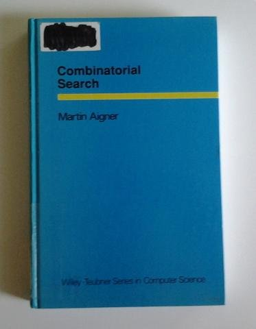AIGNER, COMBINATORIALSEARCH (German Edition) (3519021099) by Martin Aigner
