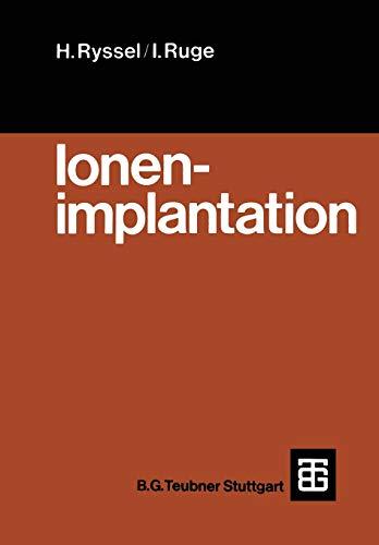 9783519032069: Ionenimplantation