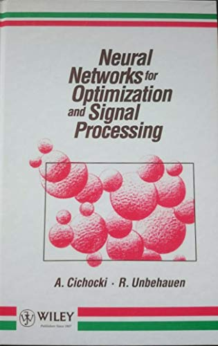 9783519064442: Neural Networks for Optimization and Signal Processing