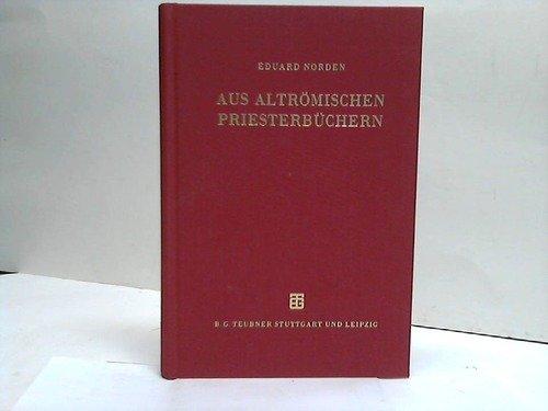 9783519072485: Aus altrömischen Priesterbüchern: Mit einem Nachwort von John Scheid
