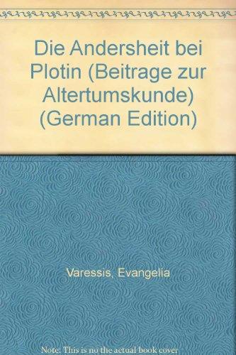 9783519076278: Die Andersheit bei Plotin (Beiträge zur Altertumskunde)