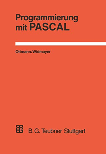 9783519122821: Programmierung mit PASCAL (Livre en allemand)