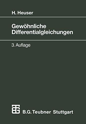 9783519222279: Gewöhnliche Differentialgleichungen. Einführung in Lehre und Gebrauch.