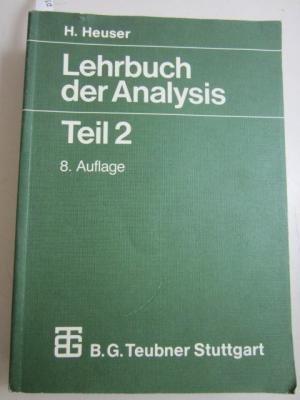 9783519222323: Lehrbuch der Analysis Teil 2. Mit 631 Aufgaben, zum Teil mit L�sungen.
