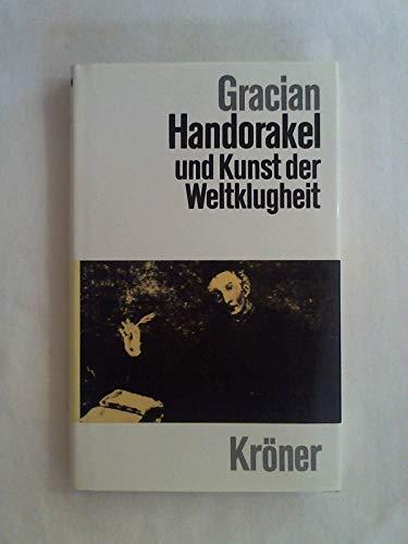Handorakel und Kunst der Weltklugheit (3520008122) by Baltasar Gracian