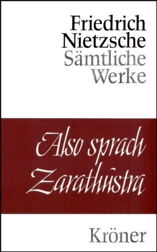 4 Bde. der «Sämtlichen Werke in Einzelausgaben»].: Nietzsche, Friedrich