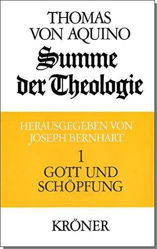 9783520105035: Summe der Theologie I. Gott und Schöpfung
