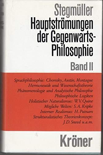 9783520309082: Hauptströmungen der Gegenwartsphilosophie, Bd.2