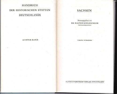 9783520312013: Handbuch der historischen Stätten Deutschlands, Bd.8, Sachsen