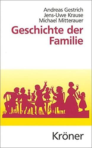 9783520376015: Geschichte der Familie.