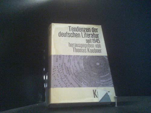 9783520405029: Tendenzen der deutschen Gegenwartsliteratur (Kroners Taschenausgabe) (German Edition)