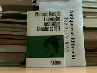 LEXIKON DER RUSSISCHEN LITERATUR AB 1917.: Kasak, Wolfgang.