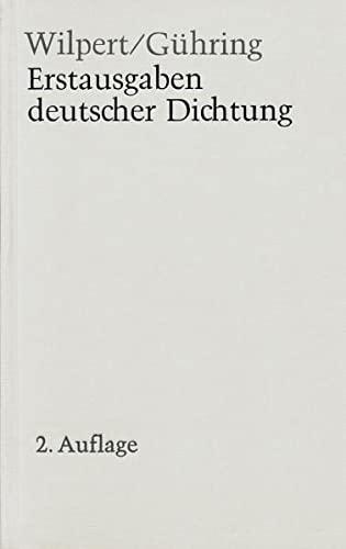 Erstausgaben deutscher Dichtung: Eine Bibliographie zur deutschen Literatur 1600-1960 (German ...