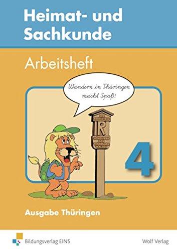 9783523805048: Heimat- und Sachkunde 4. Arbeitsheft. Thüringen. Mit Landkarte: Arbeitshefte für die Jahrgangsstufen 1 bis 4. Überarbeitet nach dem neuen Lehrplan