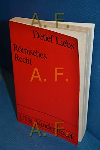 9783525031186: Romisches Recht: Ein Studienbuch (Uni-Taschenbucher ; 465 : Rechtswissenschaft : Romisches Recht)