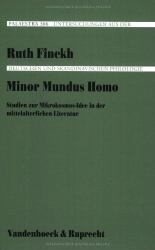 9783525205792: Minor mundus homo: Studien zur Mikrokosmos-Idee in der mittelalterlichen Literatur (Palaestra)