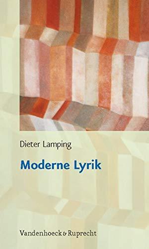 9783525208625: Moderne Lyrik