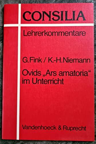 9783525256350: Ovids Ars amatoria im Unterricht (CONSILIA)