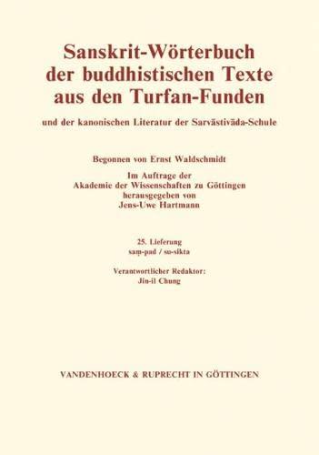 Sanskrit Wörterbuch Lieferung 25: Jens-Uwe Hartmann
