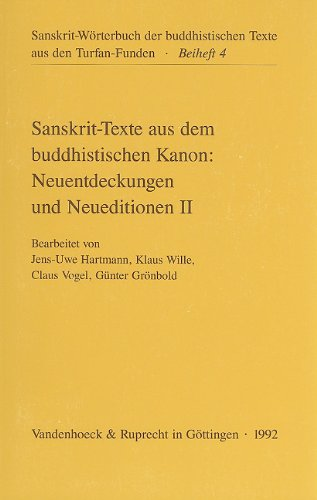 Sanskrit-Texte aus dem buddhistischen Kanon: Heinz Bechert