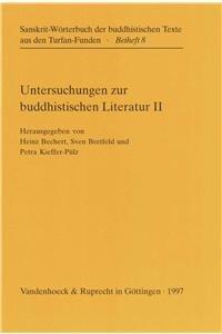 Untersuchungen zur buddhistischen Literatur. Zweite Folge: Heinz Bechert