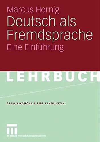 9783525265222: Deutsch als Fremdsprache: Eine Einfuhrung (STUDIENBUCHER ZUR LINGUISTIK)