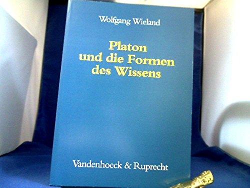 9783525301272: Platon und die Formen des Wissens (German Edition)