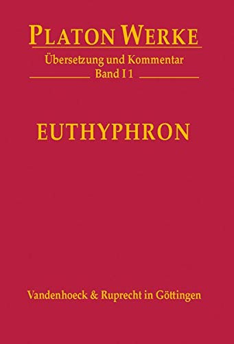 9783525304006: Platon: I 1 Euthyphron (Platon Werke)