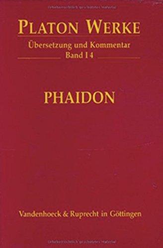 9783525304037: I 4 Phaidon (PLATON:WERKE,UBERSETZUNG,KOMMENTAR)