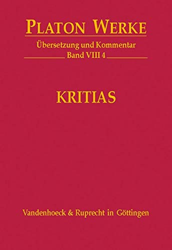 9783525304310: VIII 4 Kritias