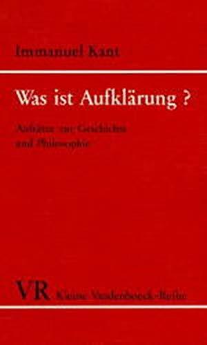 Was Ist Aufklarung (Kleine Vandenhoeck-Reihe ; 1258) (German Edition) (9783525333693) by Immanuel Kant