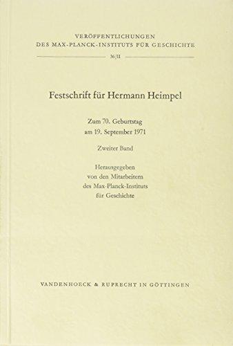 9783525353479: Festschrift für Hermann Heimpel zum 70. Geburtstag II: 2 (Archaeologia Homerica - Lieferungsausgabe)