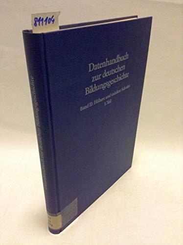 9783525362112: Datenhandbuch zur deutschen Bildungsgeschichte