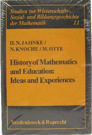9783525403181: History of Mathematics and Education: Ideas and Experiences