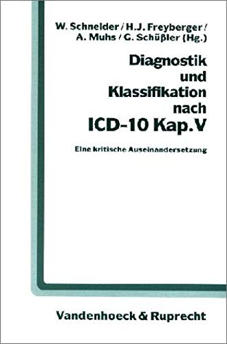 9783525452714: Diagnostik und Klassifikation nach ICD-10 Kap. V.