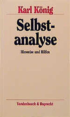 Selbstanalyse: Hinweise und Hilfen (Beitraege a.D.Institut Fuer Verkehrswissenschaft D.Uni Muenster) (3525457790) by Konig, Karl