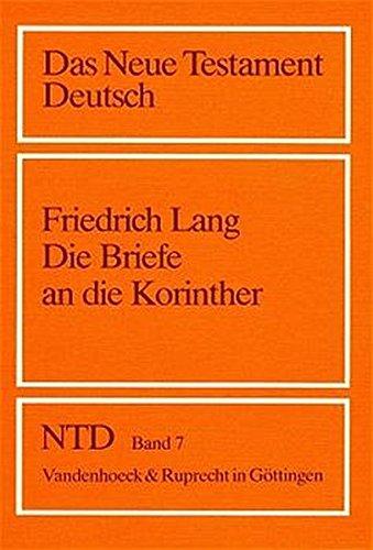 9783525513682: Die Briefe an Die Korinther (Das Neue Testament Deutsch. Ntd)