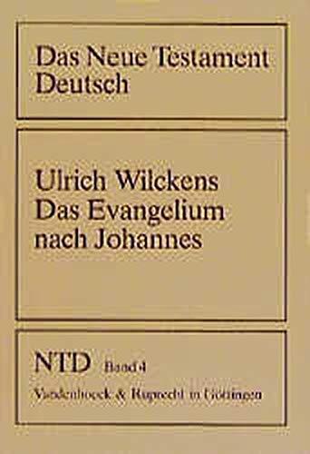 9783525513798: Das Evangelium nach Johannes (Das Neue Testament Deutsch. NTD) (German Edition)