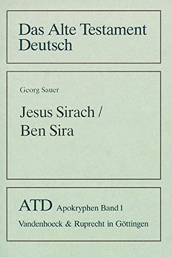 Jesus Sirach / Ben Sira: Georg Sauer