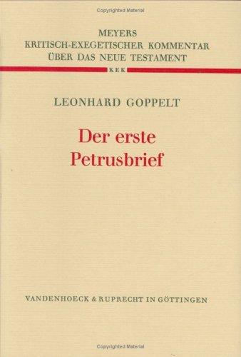 Der erste Petrusbrief: Leonhard Goppelt